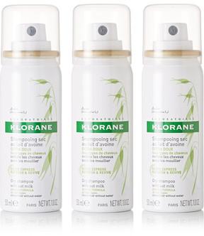 Klorane Dry Shampoo With Oat Milk, 3 X 50ml - Colorless