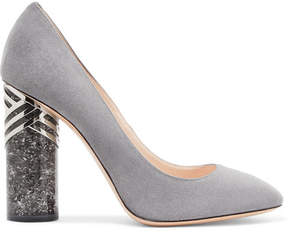 Nicholas Kirkwood Zaha Suede Pumps - Dark gray