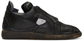 Maison Margiela Black Limited Edition Mixed Patchwork Sneakers
