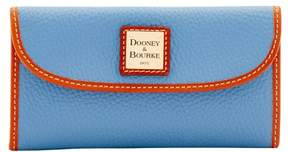 Dooney & Bourke Pebble Grain Continental Clutch Wallet - DUSTY BLUE - STYLE