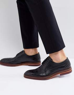 Ted Baker Gourduns Leather Brogue Shoes In Black