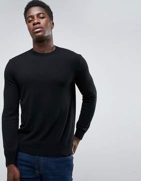 Benetton Cashmere Blend Sweater In Black