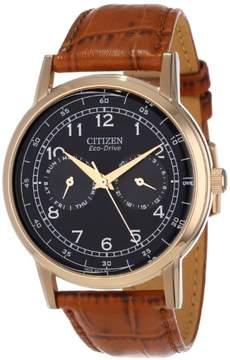 Citizen Eco-Drive AO9003-08E Brown Analog Eco-Drive 8635 Men's Watch