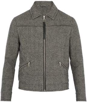 Lanvin Hound's-tooth wool bomber jacket