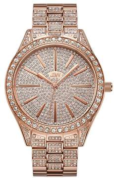 JBW Women's 18K Rose Gold Stainless Steel Cristal Diamond Watch - 0.12 ctw