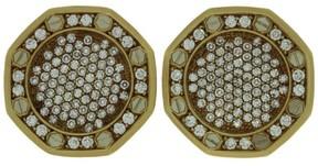 Audemars Piguet 18K Yellow Gold Diamond Royal Oak Cufflinks