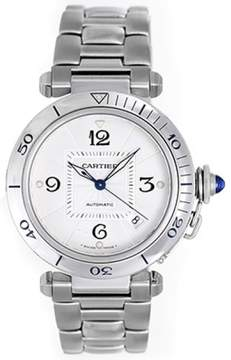 Cartier Pasha W31031H3 Stainless Steel Silver Dial Automatic 38mm Men