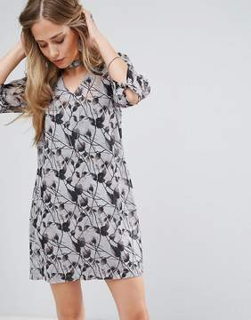Bellfield Passi Tie Front Printed Shift Dress