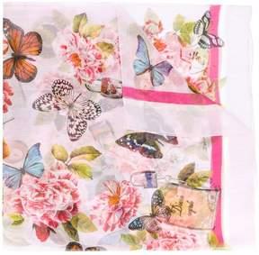 Dolce & Gabbana butterfly padlock printed neck scarf