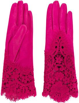 Ermanno Scervino lace detail gloves