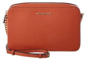MICHAEL Michael Kors Jet Set Travel Large Leather East/west Crossbody. - ORANGE - STYLE