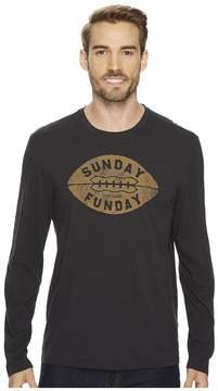 Life is Good Sunday Funday Long Sleeve Smooth Tee Men's Short Sleeve Pullover