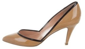 Sigerson Morrison Patent Leather Pointed-Toe Pumps