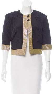 Matthew Williamson Silk Metalassé Jacket