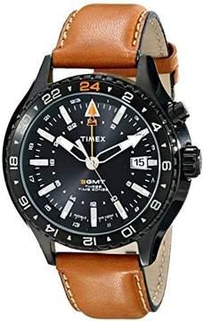 Timex Men's Intelligent Quartz T2P427 Brown Leather Japanese Fashion Watch