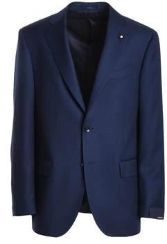 Lardini Men's Blue Wool Blazer.