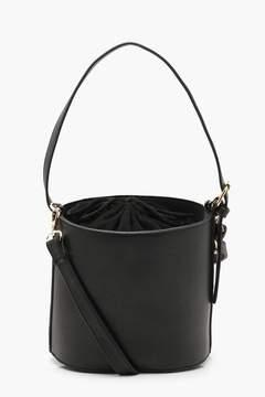 boohoo Drawstring Cylinder Bucket Bag