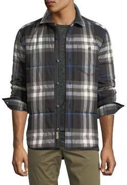 Burberry Walsden Quilted Check Cotton Shirt Jacket