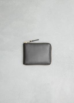Comme des Garcons WALLET black classic leather line zip wallet