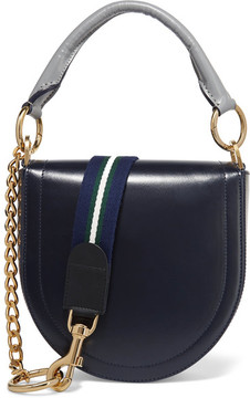 Sacai - Leather Shoulder Bag - Storm blue