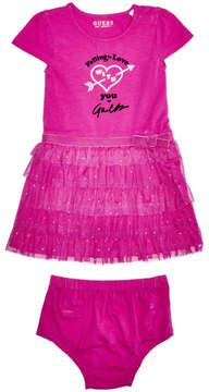 GUESS Short-Sleeve Ruffle Dress (0-24m)