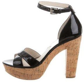 Michael Kors Patent Leather Platform Sandals