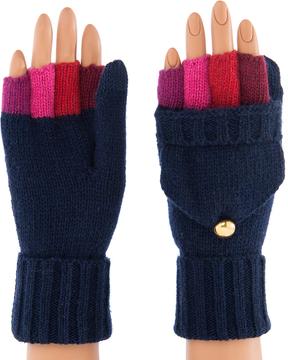 Shiraleah Blue Kylie Fingerless Wool-Blend Glove