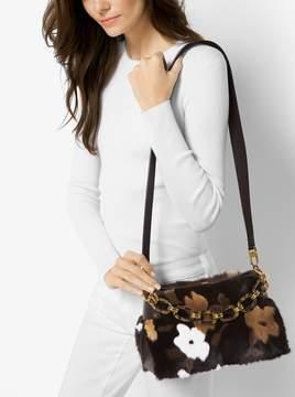 Michael Kors Miranda Medium Mink Fur Shoulder Bag - COFFEE - STYLE