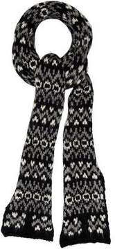 Saint Laurent Patterned Chunky Knit Scarf