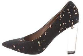 Dries Van Noten Printed Pointed-Toe Pumps