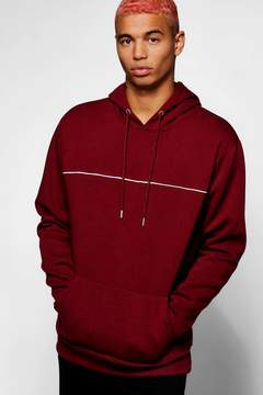 boohoo Over The Head Hoodie With Piping