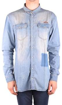 Frankie Morello Men's Light Blue Cotton Shirt.