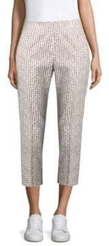 Peserico Graphic Polka-Dot Slim Cropped Pants