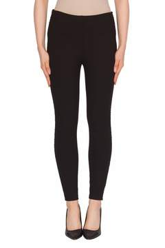 Joseph Ribkoff Faux-Leather Trimmed Pant