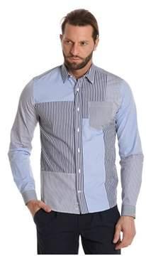 Paul & Shark Men's Light Blue/grey Cotton Shirt.
