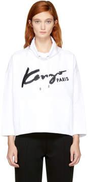 Kenzo White Signature Logo Sweatshirt