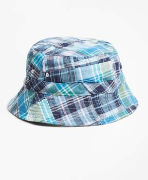 Brooks Brothers Reversible Patchwork Cotton Bucket Hat