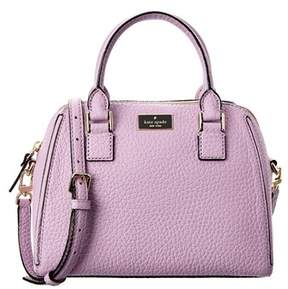 Kate Spade Prospect Place Small Pippa Leather Satchel. - PURPLE - STYLE