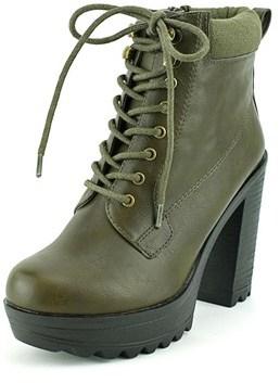 XOXO Jonas Women Round Toe Synthetic Green Ankle Boot.