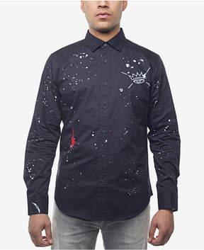 Sean John Men's Embroidered Paint-Splatter Shirt, Created for Macy's