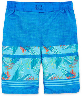 Arizona Tropical Print Swim Trunk - Boys 4-20