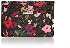 Kate Spade Cameron Street Boho Floral Card Case - BLACK MULTI/GOLD - STYLE