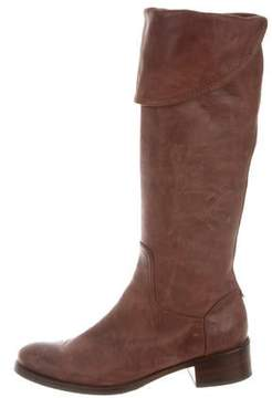 Alberta Ferretti Distressed Leather Knee-High Boots