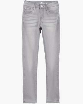 7 For All Mankind Girls 7-14 The Skinny 5-Pocket Stretch Denim Jeans in Sterling Grey