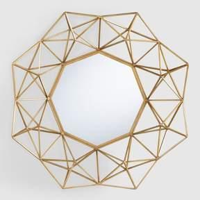 World Market Gold Geometric Danyel Mirror