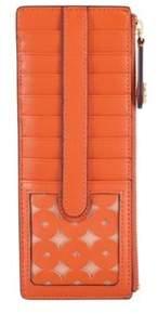 Lodis Women's Laguna Perforated Rfid Credit Card Case W/ Zipper.