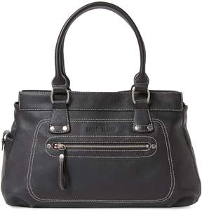 Longchamp Women's Medium Leather Long Handle Tote - BLACK - STYLE