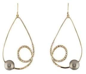 Alexis Bittar Faux Pearl & Crystal Swirl Drop Earrings
