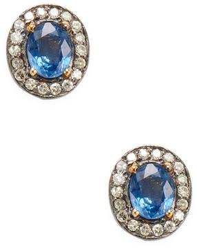 Amrapali Women's Sapphire and Diamond Bezel Earrings