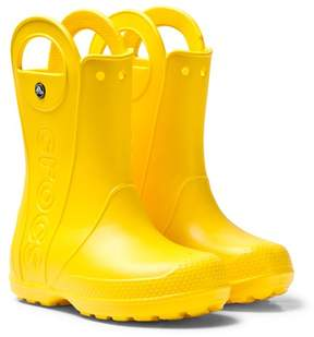 Crocs Yellow Handle It Rain Boots